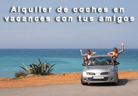 Alquiler de coches en vacances con amigos
